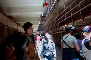 Tourists at Alcatraz Today