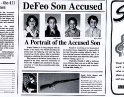 The Newspaper articles and photos of Butch DeFeo after being charged with the murders