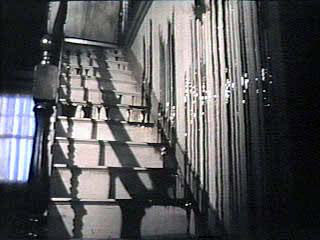 The sticky ooze flowing down the stairs-taken from the original film