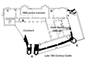 A Floor Plan of Berry Pomeroy Castle