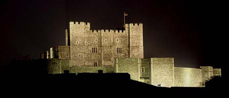 Dover castle kent england dover castle at night sciox Image collections