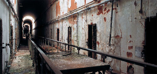 The Abandoned Cell Blocks at Eastern State Penitentiary