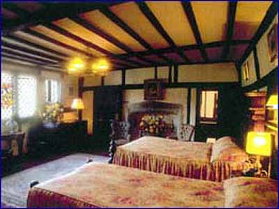 One of the haunted bedrooms at the Mermaid Inn