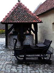 The well at Rasnov Citadel, Transylvania