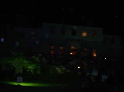 A photograph capturing orbs at Rose Hall