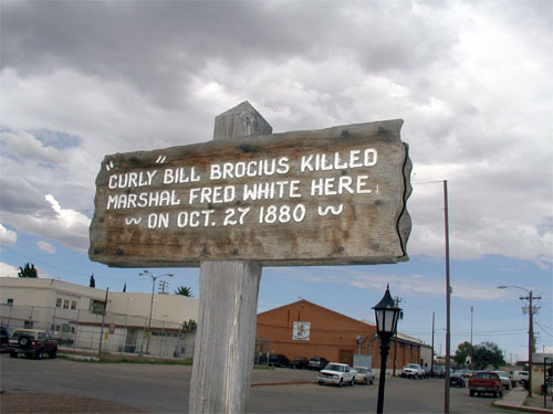 One of the many historical signs found in Tombstone