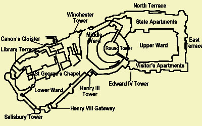 The Floor Plan of Windsor Castle
